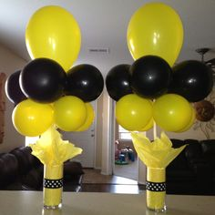 These were so easy and cheap to make!! Perfect for my little girls bee theme birthday party!!