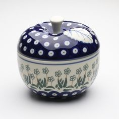 Apple baker~Polish Pottery. I want this for my kitchen.