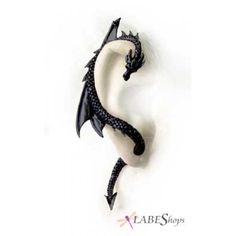 ear wraps | Black Dragons Lure Earring Wrap by Alchemy Gothic ...I would definitely wear this
