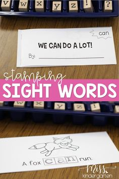 Stamp out sight word