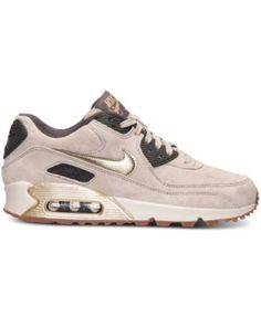 Nike Women's Air Max 90 Premium Suede Running Sneakers from Finish Line