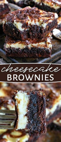 These Cheesecake Brownies are a mouth watering combination of two dessert favori., Desserts, These Cheesecake Brownies are a mouth watering combination of two dessert favorites. Extra fudgy brownies topped with a creamy cheesecake layer makes . Chocolate Flavors, Baking Chocolate, Chocolate Recipes, No Bake Chocolate Desserts, Chocolate Babka, Chocolate Biscuits, Chocolate Ganache, Oreo Dessert, Dessert Bars