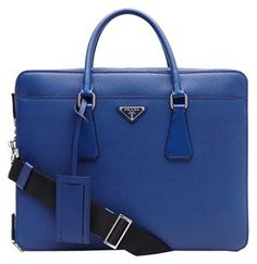 Prada New Leather Tote in Blue
