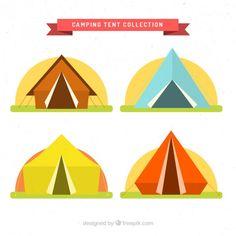 Colored camping tents set in flat design Free Vector Free Vector Images, Vector Free, Tent Logo, Tent Camping, Family Camping, Glamping, Beach Tent, 2021 Calendar, Logo Nasa