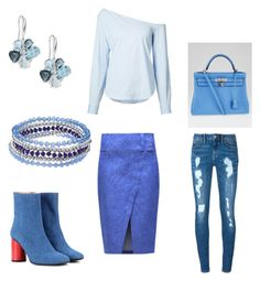 """""""Blue 413"""" by audjvoss on Polyvore featuring 10 Crosby Derek Lam, Acne Studios, Chaps, Effy Jewelry, Theory, Hermès and Tommy Hilfiger"""