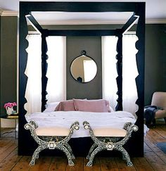 Modern Canopy Bed quatrafoil queen canopy bed, black   shopping, canopy beds and