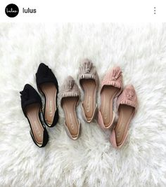 Love the fringe flats by Chinese Laundry #flats #fringe #shoes
