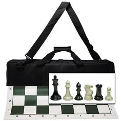 WE Games Ultimate Tournament Chess Set with NEW Green Silicone Chess Mat Canvas Bag  Super Triple Weighted Chessmen with 4 King >>> Check this awesome product by going to the link at the image.
