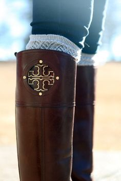 tory burch kiernan riding boots ♥