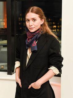 Ashley Olsen in a scarf.