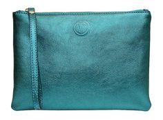 Essential Clutch - Metallic Turquoise