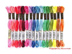 Anchor Variegated 6 Strand Floss - 1 each of 16 ombre colors