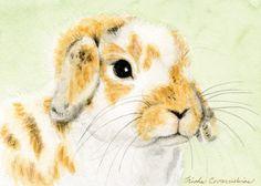 Custom pet portrait / original cat dog horse rabbit mouse painting / animal art / watercolor painting / 5 X 7