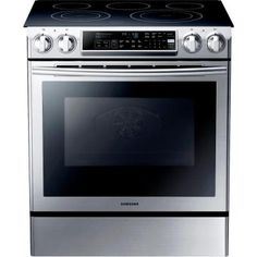 Samsung 5.8 cu. ft. Slide-In Electric Range with Self-Cleaning Dual Convection Oven in Stainless Steel-NE58F9500SS - The Home Depot