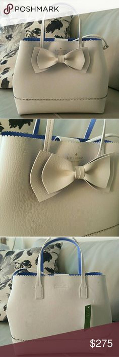 !!MAKE OFFERS!! New Kate Spade Bow Purse *NEW with tags! *Medium sized bag, size will be updated. *Very cute! - can become crossbody too. *Open to all REASONABLE offers! kate spade Bags