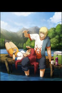 Naruto - Minato Namikaze x Kushina Uzumaki - MinoKushi Naruhina, Anime Naruto, Naruto Shippuden, Manga Anime, Comic Naruto, Minato Kushina, Naruto Art, Otaku Anime, Itachi