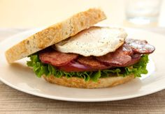 New American BLT with Duck Bacon - Made with Maple Leaf Farms Naturally Applewood Smoked Duck Bacon!
