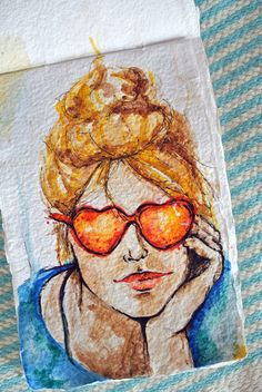 Love this blog. Watercolor, flash tattoos, and an overall happy blog.