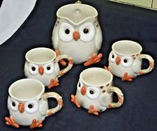 s Fitz /& Floyd Spotted Owl Coffee Cup s Mug 1978