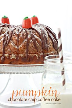 Pumpkin Chocolate Chip Coffee Cake