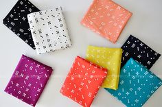 Domino Dot Fat Quarter Bundle, Waterfront Park Fabric, Violet Craft for Michael Miller Fabrics, COMPLETE via Etsy