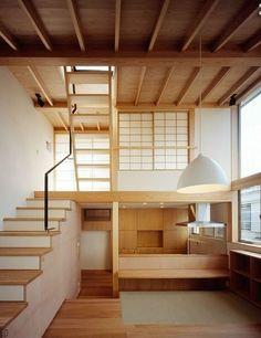 Fragments of architecture — Kousuke Izumi Architects Modern Japanese Interior, Modern Japanese Architecture, Japanese Home Design, Architecture Design, Interior Design Minimalist, Tiny House Design, Design Loft, Japanese House, Design Furniture