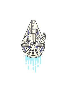 Solo A Star Wars Story Millennium Falcon Star Wars Film, Star Wars Icons, Star Wars Art, Tatoo Star, Star Wars Tattoo, Bullet Journal Month, Star Wars Stickers, Star Wars Design, Millenium Falcon