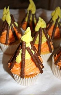 campfire cupcakes. I plan on taking these camping!