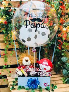 Balloon Surprise en Bogotá por Sorpresas a tiempo. Escoge tu equipo favorito! Whastapp: 3014136244 - 3212304451 Entregas a Domicilio #RegalosPersonalizados #GlobosGigantes #Globostransparentes #Felizdíapapá #Santafe #Balón #Fútbol Balloon Surprise, Balloon Gift, Birthday Quotes For Him, Chocolate Bouquet, Dad Day, Ideas Para Fiestas, Partys, Pink Candy, Happy Fathers Day