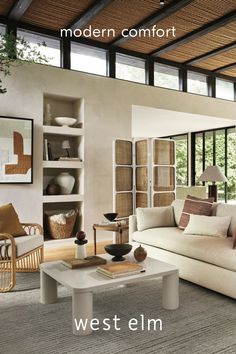 Design your space with an eye towards simple, understated, high-comfort elegance. It's sophisticated without being stuffy. Entryway Furniture, Bed Furniture, Living Room Decor, Living Spaces, Living Rooms, Living Area, Living Room Inspiration, Design Inspiration, House Rooms