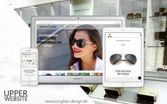 Sunglass Design beauftragte Upper Website mit der Gestaltung der neuen Website nach Eröffnung des ersten Stores im Rhein-Center Köln Weiden. Outlet Store, Web Design, Seo, Designer, Wicker, Website Designs, Site Design