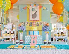 ABC Themed Boys First Birthday Party Dessert Table Ideas