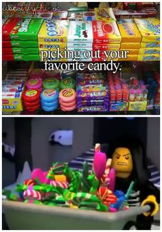 Lloyd and his Candy> how can someone look that angry with that much candy?