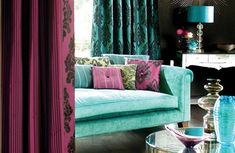 Blue is best described as the color of the ocean, decorating a room with blue or turquoise is simple with a basic knowledge of color wheel.