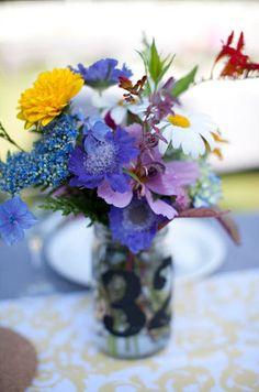 wild flower wedding centerpiece