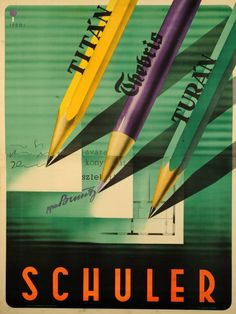 Gorgeous colours and treatment by Hungarian born Israeli architect and designer Irsai István. Gotta look into more of his output. Vintage Ads, Vintage Posters, Pulp Art, Advertising Poster, Architect Design, Graphic Illustration, Art Supplies, 1920s, Stationery