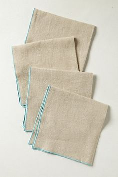 These are from Anthropologie. But they can easily be made using a serger.