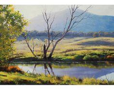ORIGINAL pintura al óleo paisaje impresionista por GerckenGallery