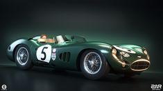 Aston Martin DBR1 on Behance Le Mans, Aston Martin Dbr1, Classic Aston Martin, Race Cars, Slot Cars, Car Wallpapers, Custom Cars, Super Cars, Classic Cars