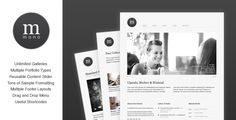 Cudazi Mono is a clean, luxurious WordPress theme perfect for a wide range of applications.