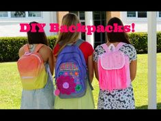 DIY Backpacks (Dip-dye, Fringe, Zoey 101) + Giveaway! Cloecouture!