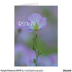 Purple Primrose RSVP Card