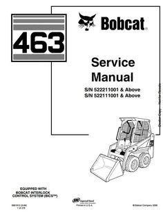 Bobcat S150 S160 Skid-Steer Loader Service manual 7-092