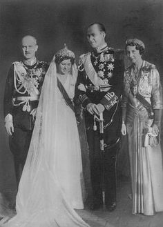 Viktoria Luise and Ernst August at their daughter's Princess Friederike and Crown Prince Paul's wedding, 1938