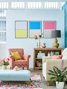 Add a pop of colour and mix and match your furniture for a look that is completely unique. Click through to our blog for how to get the look!