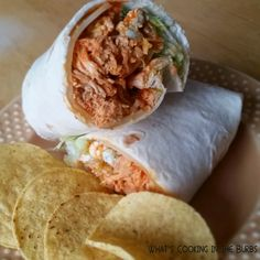 What's Cooking in the Burbs: Spicy Garlic Chicken Wraps