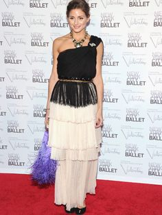 Olivia Palermo, New York City Ballet Fall Gala - Livvy, what happened?! Our usually super-stylish fashionista looks like a frumpy mess... and what's going on with that purple fluffy bag!