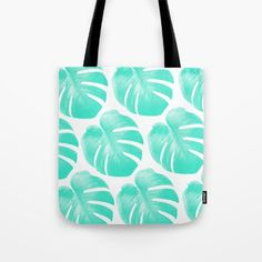 Buy TROPIC - TURQUOISE - MONSTERA Tote Bag by NORDIK. #totebag #totes #tote #beachbag #beachwear #beach accessory #summeraccessory #tropical #palmleaf #monstera #trend #trending #trendy #girl #summer2016 #turqouise #mint