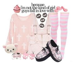 """""""~ because i'm not the kind of girl guys fall in love with ~"""" by freezespell ❤ liked on Polyvore"""