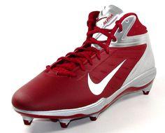 Nike Alpha Talon Elite D 3/4 Detachable Football Cleats Maroon/Silver #Nike #34DetachableFootballLacrosseCleats